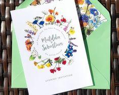 Customised, illustrated, designer wedding stationery by PaperWillowDesign Illustrated Wedding Invitations, Unique Wedding Invitations, Wedding Menu, Wedding Stationary, Wedding Cards, Our Wedding, Dream Wedding, Wedding Ideas, Map Invitation