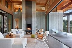 15 Stunning Contemporary Living Room Designs For Inspiration Architectural Technologist, Concrete Color, Concrete Design, Concrete Interiors, Interior Decorating, Interior Design, Led Lampe, The Ranch, Play Houses