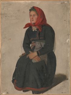 Adolph Tidemand - Peasant Woman from Telemark. Google Art Project, Bridal Crown, Working Class, National Museum, New Kids, Art Google, Norway, Fashion Design, Painting