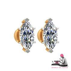 Glittering #diamond studs!  #Handmade #Artisans #Love #Gold #Jewelry #Modern #Women