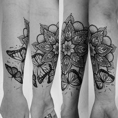 #butterfly #mandala #tattoo More