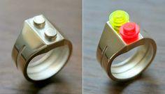 Anillo que puedes decorar con piezas de LEGO | La Guarida Geek
