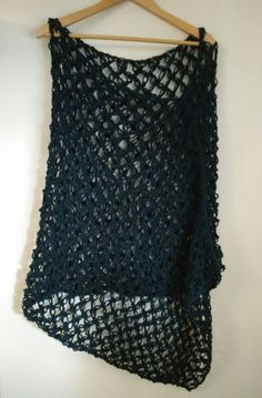 crochet poncho, teal, lace by yrozafcrocheting on Etsy Crochet Poncho, Crochet Top, Crochet Projects, Teal, Lace, Handmade, Vintage, Shopping, Women