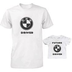CARBON FIBER DAD AND KID T-SHIRTS SET BMW DRIVER AND FUTURE BMW DRIVER TEES SET #Unbranded Dad Baby, Matching Shirts, Carbon Fiber, Dads, Bmw, Future, Mens Tops, T Shirt, Prints