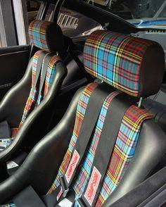 tartan seats reupholstered middle