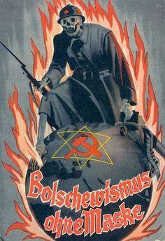 : Picture postcards and topics Third Reich Propaganda, Anti Nazi Propaganda, Russia Ww2 Posters, Political Posters, Horror Movie Posters, Horror Movies, Nazi Propaganda, Anti Communism, Picture Postcards, Horror Art, World War Two