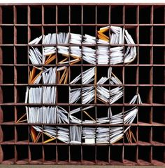 NY Times Logo with Stacks of Mail