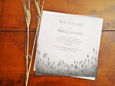 Wheat field wedding invitation by http://thlovedesign.wordpress.com/