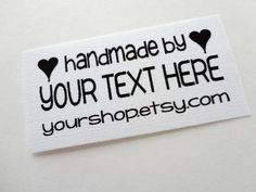 Custom Printed Fabric Labels by eyeluvnyc on Etsy, $22.50