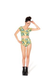 Pineapple Nana Suit (Made to Order) by Black Milk Clothing