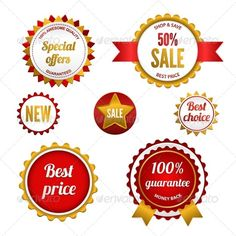 Set of Sale Badges, Labels and Stickers ...  back, badge, badges, best, business, discount, icons, isolated, label, labels, marketing, money, new, offers, price, quality, red, retail, sale, selling, set, shopping, sign, special, sticker, stickers, success, symbol, symbols, top