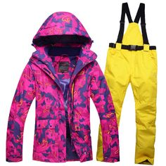 139.00$  Buy now - http://aliiq6.worldwells.pw/go.php?t=32757790997 - Free shipping Outdoor female Ski  suits waterproof windproof  thermal insulation single double board female ski jacket and pant 139.00$