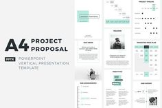 A4 Project Proposal PowerPoint by CreativeSlides on @creativemarket Professional creative design Presentation Template Slides. Creative, modern, clean, minimalist, trendy, marketing Promotion Promo Posts for Business, Proposal, Marketing, Plan, Agency, Startups, Portfolio Design Layout.