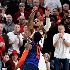Damian Lillard sends the Thunder home on a 37 foot game winner. Blazers win the game Series was Dame had 50 points. - Damian Lillard sends the Thunder home on a 37 foot game winner. Blazers win the game Series was Dame had 50 po Mvp Basketball, Foot Games, Alley Oop, Damian Lillard, Nba Stars, Sport Icon, Portland Trailblazers, Trail Blazers, Sports Memes