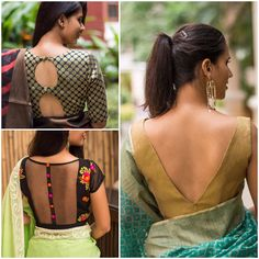How to Select Saree Blouse Design? Golden Blouse Designs, Fancy Blouse Designs, Saree Blouse Neck Designs, Kurti Neck Designs, Sari Design, Bollywood, Designer Blouse Patterns, Beautiful Blouses, Lehenga