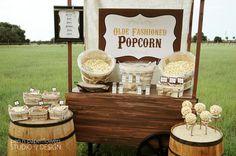 Rustic Popcorn Bar Collection - Printables Bundle - P.I.Y. (print-it-yourself). $20.00, via Etsy.