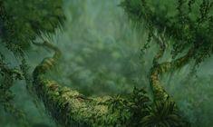 disney crossover Image: Empty Backdrop from Tarzan Tarzan Disney, Disney Art, Disney Movies, Disney Pixar, Fantasy Landscape, Landscape Art, Apocalypse Aesthetic, Fantasy Forest, Walt Disney Animation Studios