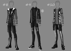[Closed] Auction BW Outfit men 8-10 by YuiChi-tyan