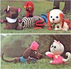 Vtg Cuddly Toys Crochet Pattern Rug Yarn Dolls Turkey | eBay