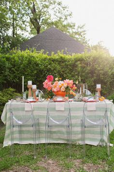 Striped tablecloth: http://www.stylemepretty.com/collection/1808/