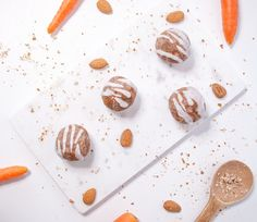 Super moist and delicious raw vegan carrot cake balls.