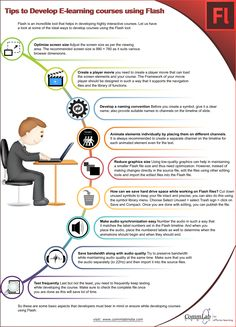 Tips to Develop E-learning Courses Using #Adobe #Flash - An Infographic