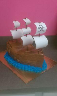 Pirate Ship Cake!