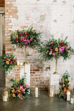 Pin on Awesome Party Ideas Tropical Floral Arrangements, Floral Centerpieces, Vanda Orchids, Gold Lanterns, Balloon Installation, Spray Roses, Wedding Desserts, Floral Wedding, Chic Wedding