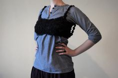 Вязаный топ/ Knitted top via simplehard. Click on the image to see more! #knit #knitting