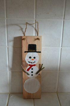 bonhomme de neige sur palette