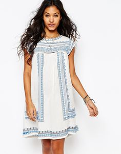 Star+Mela+Allie+Embroidered+Tunic+Dress