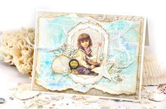 Card Using Frank Garcia/Prima French Riviera collection for the Flying Unicorns