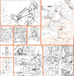 Sketches. Some of them have a final picture.