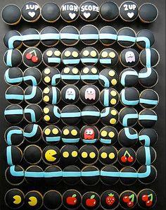 Large Pacman Cupcake Mosaic | Video Game