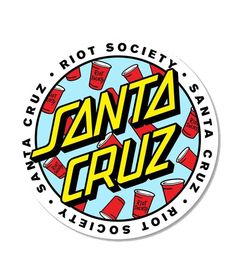 Cool Stickers, Printable Stickers, Santa Cruz Stickers, Santa Cruz Logo, Cute Boyfriend Gifts, Cool Kids Clothes, Hand Logo, Christmas Drawing, Skateboard Art