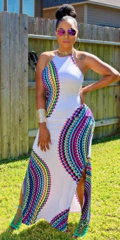 Beautiful Summer Dress: @vanitykloset // Fashion Look by iamlonni