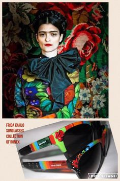 Ronex Sun wear 2017 Collection inspired by Frida Kahlo-Roni Dori-Colorful colors and designed and hand painted with love.