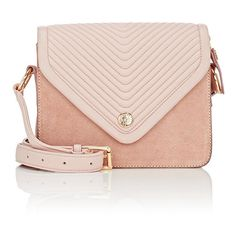 Maison Mayle Women's Ines Shoulder Bag ($695) ❤ liked on Polyvore featuring bags, handbags, shoulder bags, pink, pink shoulder bag, leather coin purse, zipper coin purse, zip coin purse and shoulder strap bags