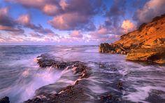 Download Wallpaper 3840x2400 Sea, foam, Light Ultra HD 4K HD Background