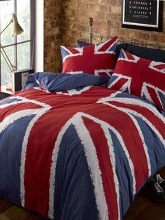 Funky Union Jack Single Duvet Cover Set