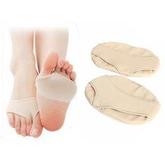 Pequeña parte delantera del pie suave mitad almohadilla protectora de silicona única relif dolor cojines de gel de cuidado de los pies