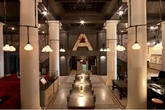 pipe lightning system  New York | Ace Hotel : A friendly place, continually new.