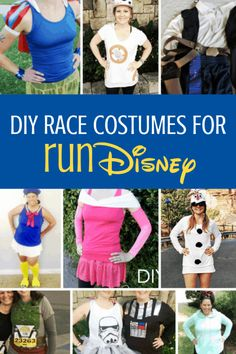 runDisney Race Costume Ideas That You Can DIY | Before you get to the Princess Half, Wine and Dine Half, Marathon or Star Wars runDisney weekends you'll want to get your running costume ready!  Over 20 ideas to DIY your way to the finish style with (Disney) character. #rundisney #costumeideas #runninginspiration #diycostumes