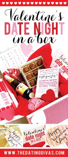 Love this Date Night idea for Valentine Day! Romantic date night in a box!!