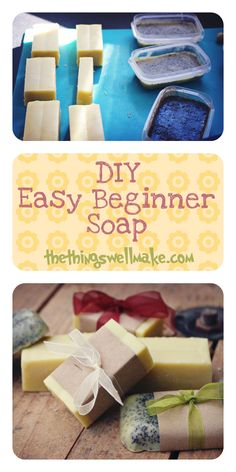 How to make an easy beginner soap. This post also includes ideas for customizing it and making it fun!