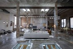 industrial loft modern house interior conversion idea