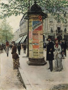 M. et Mme Galin devant le Jockey Club (Jean-Georges Béraud - 1877)