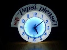 "pepsi say ""pepsi please"" neon clock cleveland"