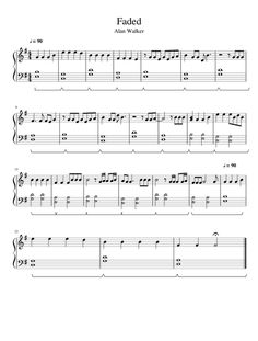 Easy Piano Songs, Guitar Chords For Songs, Easy Piano Sheet Music, Flute Sheet Music, Piano Music, Faded Music, Print Sheet Music, Teaching Channel, Dramatic Play Centers