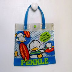 034fa3d2efd Vintage Sanrio Bag Pekkle Duck Vinyl Tote Bag 90s Sanrio Girls Purse Small  Purse Teens